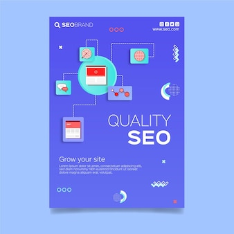 Seo strategy flyer template