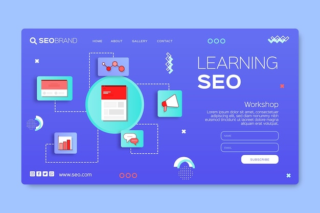 Seo strategy landing page template