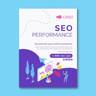 Seo vertical flyer template