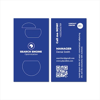 Seo virtual content business card template