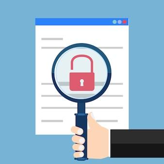 脆弱性検索。 seo最適化、web分析、プログラミングプロセス要素。