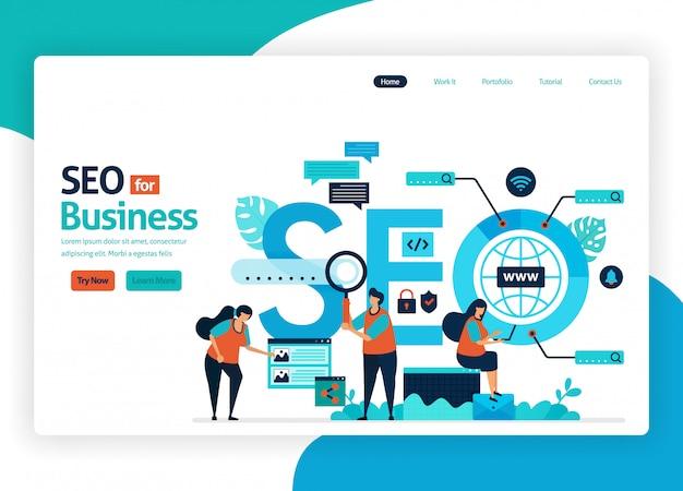 Seoを使用したマーケティング最適化のwebサイト。