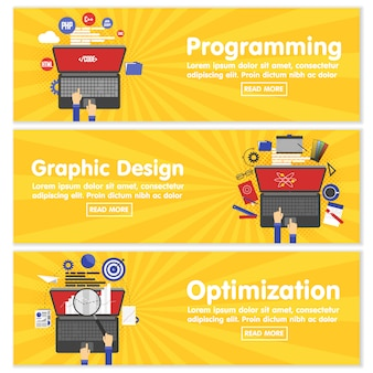 Веб дизайн, программирование seo, плоские баннеры