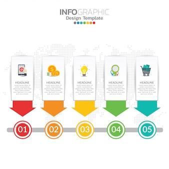 ビジネスレイアウトテンプレートとseoインフォグラフィックのインフォグラフィックの概念図。