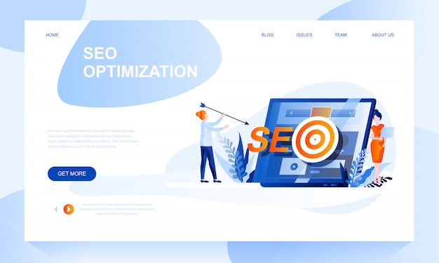 Seo оптимизация шаблона целевой страницы с заголовком