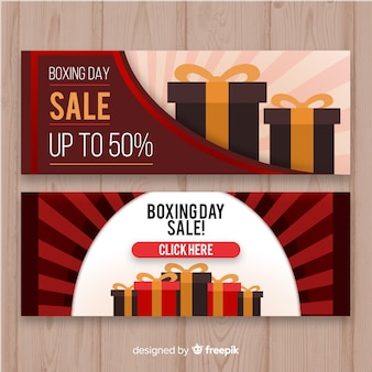 Sepia boxing day sale banner