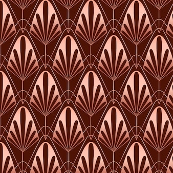 Sepia rose gold art deco pattern