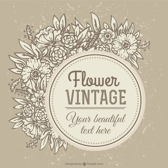 sepia vintage flower background