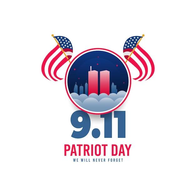 День патриота 11 сентября в сша Premium векторы