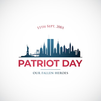 September 11, patriot day in usa.