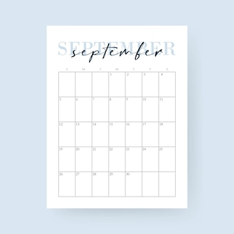 September month 2021 calendar. layout for 2021 years. week starts from sunday.