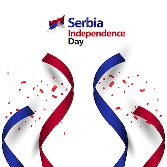 Serbia independence day vector template design illustration