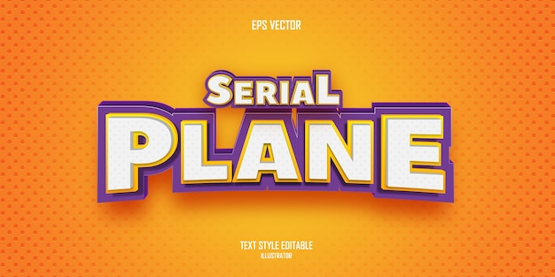 Serial plane 3d text style effect