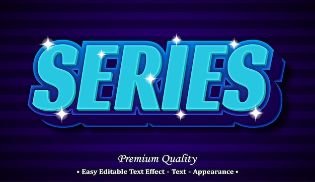 Series  editable text style effect