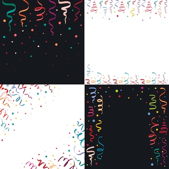 Serpentine coil ribbon backgrounds