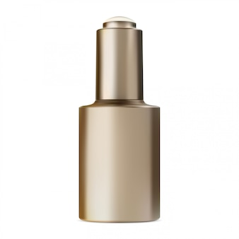 Serum bottle with dropper. face collagen essence