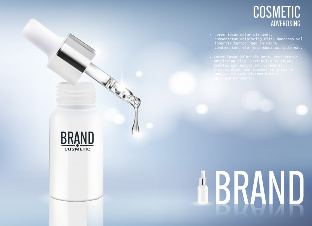 Serum cosmetic advertising