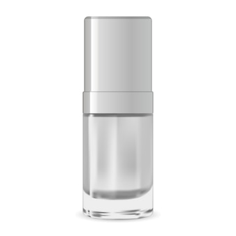 Serum cosmetic container. package design template