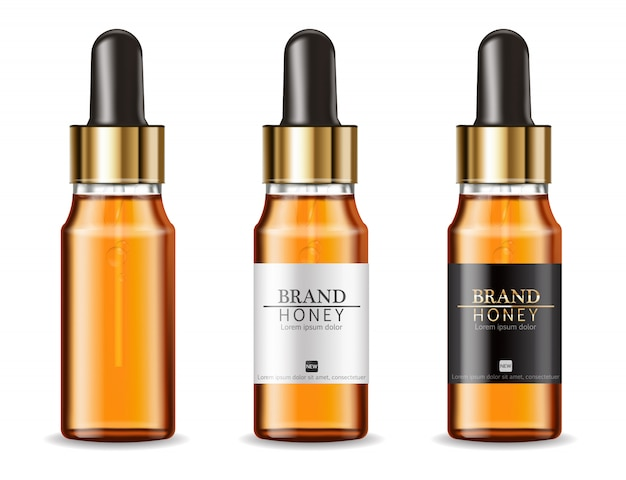 Serum cosmetics bottles