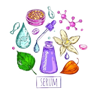 Serum cream round composition