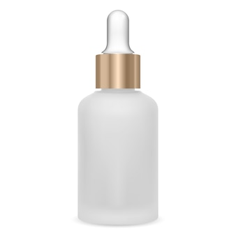 血清ドロッパーボトル。化粧品オイルバイアル