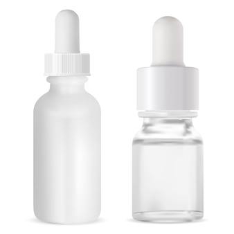 血清ドロッパーバイアル。化粧品アロマオイルボトル