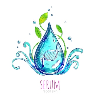 Serum essence droplet composition