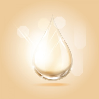 Serum gold drop for beauty and cosmetic concept