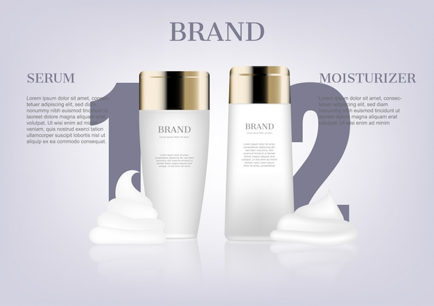 Serum and moisturizer mockup