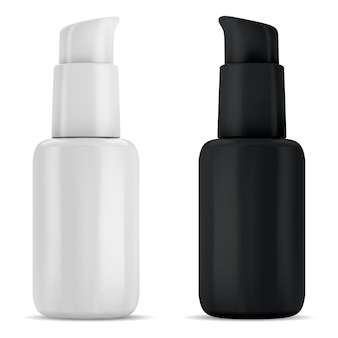 Serum pump bottle, cosmetic pump dispenser bottles for foundation, airless packaging