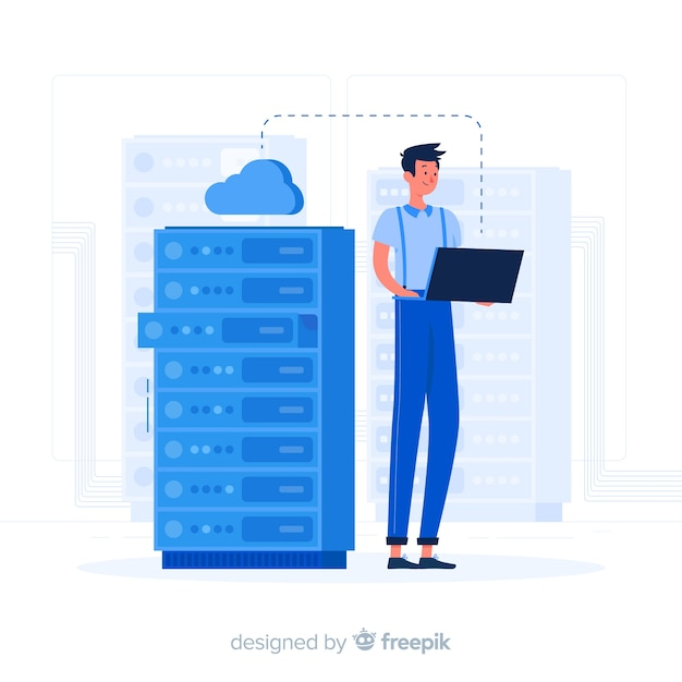 Server concept illustration