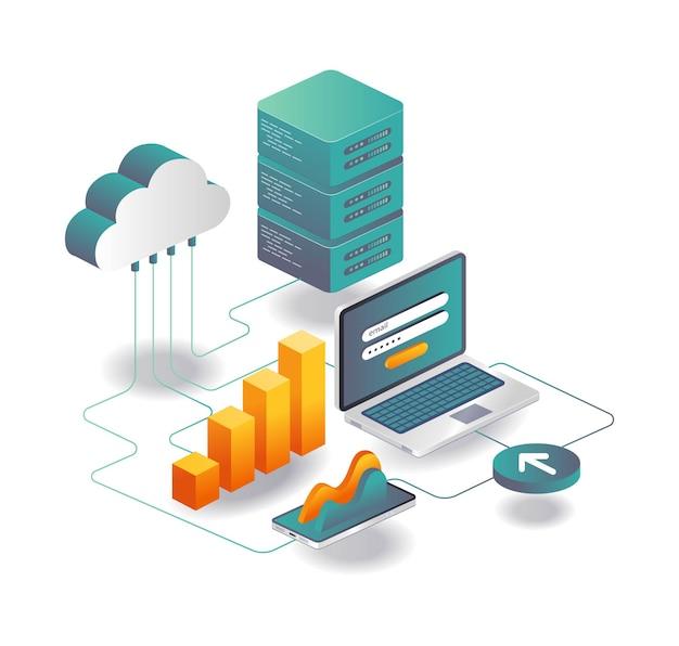 Server data analysis password and security
