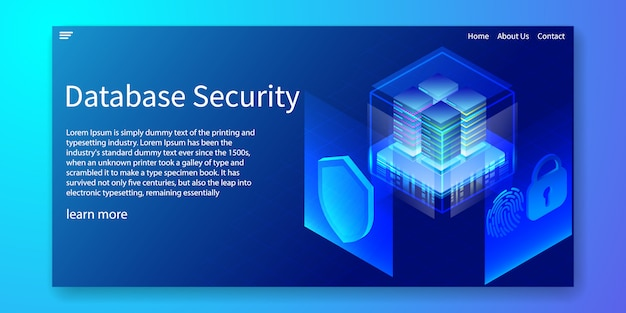 Server protection system web template