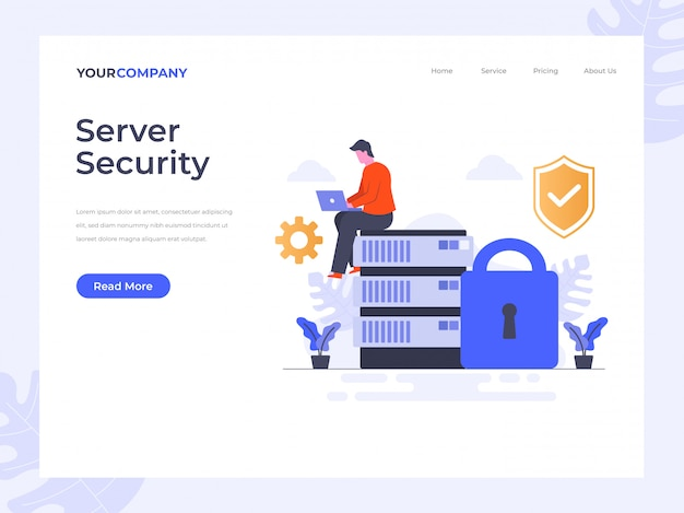 Server security landing page