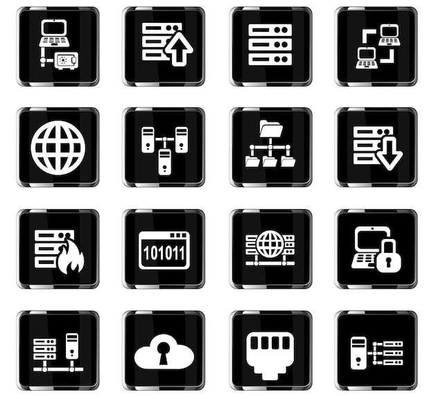 Server web icons for user interface design
