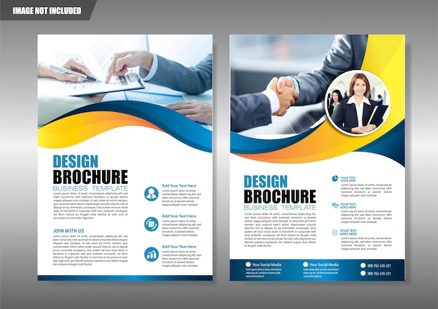 Service agency flyer with geometric shape