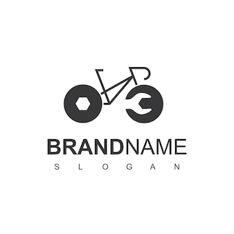 Service center of bicycle logo design template