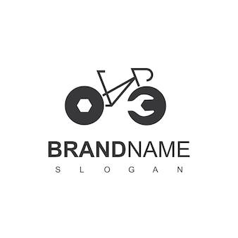 自転車のロゴデザインテンプレートのサービスセンター
