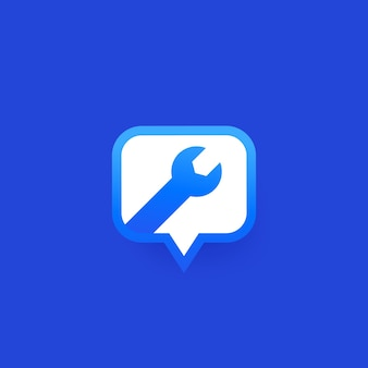 Service chat support bubble icon design