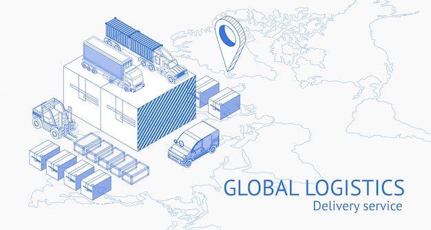 Service of global delivery in isometry