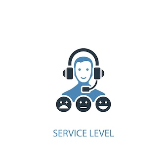 Service level concept 2 colored icon. simple blue element illustration. service level concept symbol design. can be used for web and mobile ui/ux