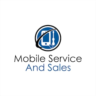 Service logo simple mobile and gadget technology