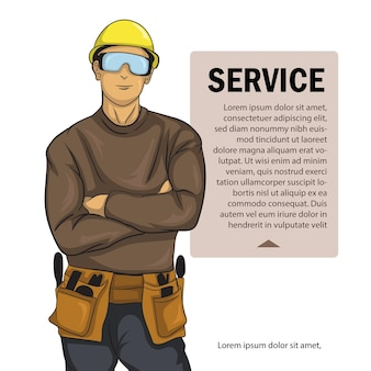 Service officer poster offering his service