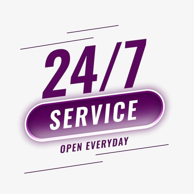Service open everyday background
