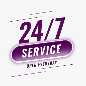 Service open everyday background