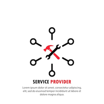 Service provider icon. online support. vector on isolated white background. eps 10.