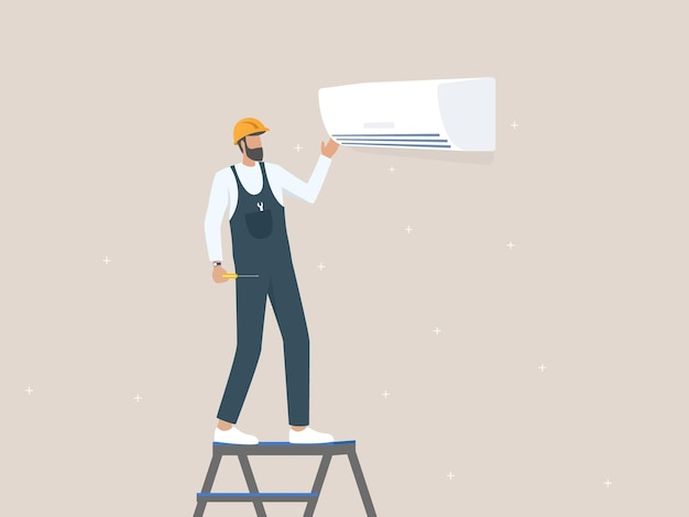 Service and repair of air conditioners