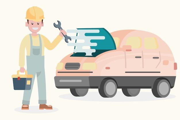 Service and repair of the broken car