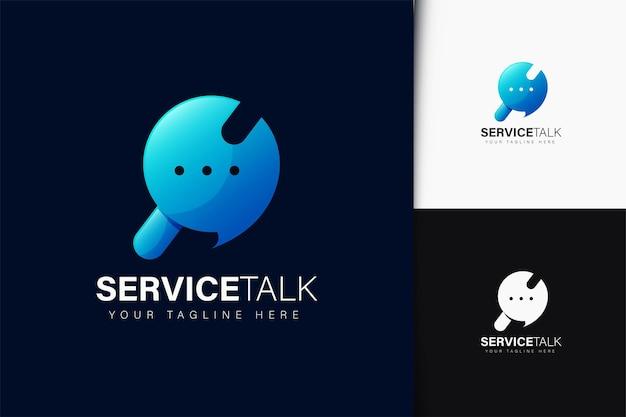 그라데이션이 있는 서비스 토크 로고 디자인