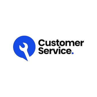 Service talk wrench chat bubble customer call automotive logo template